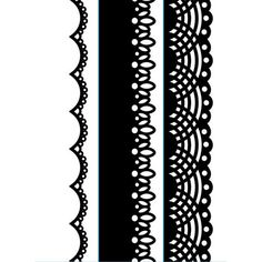 Darice® Embossing Folder Borders - Laces - 1.5 x 5.75 in - 3 pieces, scrapbooking, card making, greeting cards, invitations and more #embossing #ScrapbookSupplies #EmbossingFolder #supplies #dies #CardMaking #scrapbooking #emboss #stamping #DariceEmbossing