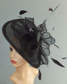 LINDSY - Wedding Hats & Fascinators Fascinator Hats, Fascinators, Black Fascinator, Headpieces, Derby Outfits, Hats For Women, Ladies Hats, Western Hats, Kentucky Derby Hats