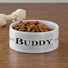Personalized Large Dog Bowls - Doggie Delights - Pet Gifts