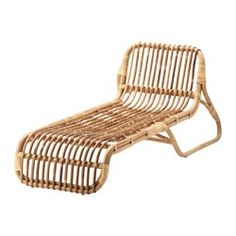 IKEA - JASSA, Chaise lounge, Handmade by skilled craftspeople, which makes every product unique.Solid chaise made of rattan that creates a natural and rustic feel in your home.The furniture looks just as good in the living room as on a patio.Treated with clear varnish which gives natural color variations and allows the furniture to age beautifully over time.