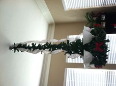 My decorated chandelier in the kitchen for the Christmas party!