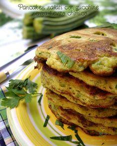 Pancakes salati con zucchine senza lievito chimico http://blog.giallozafferano.it/graficareincucina/pancakes-salati-con-zucchine-senza-lievito-chimico/