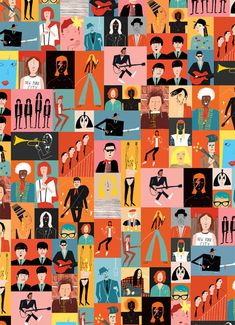 Musicians wrap by Rob Hodgson. Find your favorite rock star. And then love the way he/she looks.