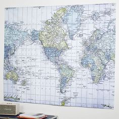 Easy Tiger World Map. Easy  Tiger Corkboard Maps Hand Lettered World Map 54 x 36 Office Product Pinterest Tigers