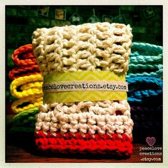 Wash Cloths 100 Cotton Ready To Ship by peacelovecreations on Etsy, $27.00