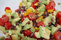 Guacamole Salad~This could be eaten as a dip or a salad either way it is yummy
