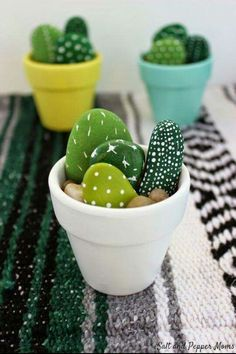 Hand Painted Mini Cactus - Office Desk - Ideas of Office Desk - The . Handwerk ualp , Hand Painted Mini Cactus - Office Desk - Ideas of Office Desk - The . Hand Painted Mini Cactus - Office Desk - Ideas of Office Desk Kids Crafts, Cute Crafts, Preschool Crafts, Diy And Crafts, Craft Activities, Simple Crafts, Adult Crafts, Recycled Crafts, Creative Crafts