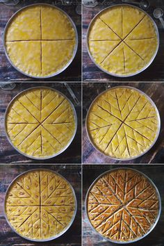 How-To Cut a round pan of BAKLAWA