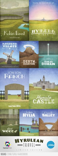Hyrule travel posters