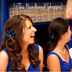 """Adorable peacock hair clips that were especially designed for my own bridesmaids, now an overwhelmingly popular design at Headband Shoppe.  The """"Carly"""" clip is perfect for your peacock wedding."""