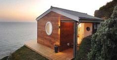 Must See Tiny 320 Square Foot Cottage Hugging A Beachfront Cliff