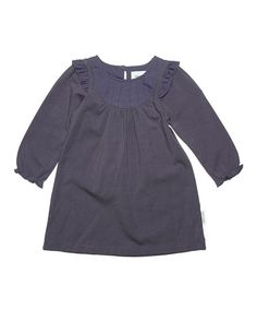 Take a look at this Stone Lilac Villa Dress - Infant, Toddler & Girls by MINI A TURE on #zulily today!