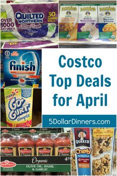 Costco Top Deals for April from 5DollarDinners.com