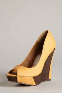 Andie Rep Open Toe Wedge Pump.... If I could walk in these they would be mine!
