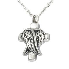 HooAMI Cremation Jewelry Angel Wings Memorial Urn Necklace Ashes Keepsake Pendant >>> Want to know more, click on the image. (This is an Amazon affiliate link)
