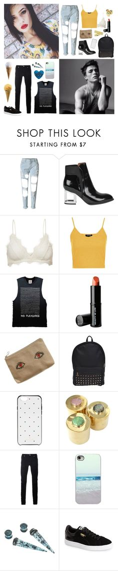 """""""School days"""" by thatxlonelyxgirl ❤ liked on Polyvore featuring WithChic, Jeffrey Campbell, Anine Bing, Topshop, Beauty Is Life, Madewell, Kate Spade, Addison Weeks, Diesel Black Gold and Puma"""