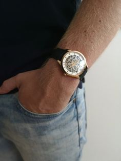The Montrichard Gold looks good on any wrist! Mechanical Watch, Watches For Men, Luxury, Gold, Accessories, Women, Top Mens Watches, Men Watches, Mechanical Clock