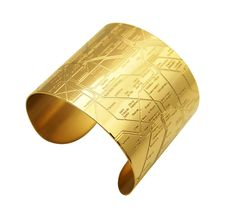 Paris Metro Cuff 18K Gold