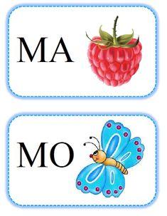 Vyvozování slabik pomocí obrázků. 22 stran. Kids Logo, Kids Learning, Worksheets, Kindergarten, Homeschool, Lego, Classroom, Teacher, Education