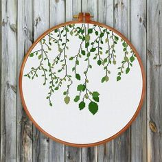 Green Leaves Green vines cross stitch pattern easy cross stitch kit for beginner. Designed by ritacuna thuhadesignGreen vines cross stitch pattern easy cross stitch kit for beginner. Designed by ritacuna thuhadesign Cross Stitch Beginner, Cross Stitch Art, Simple Cross Stitch, Cross Stitching, Cross Stitch Embroidery, Embroidery Patterns, Hand Embroidery, Cross Stitch Hoop, Stitching Patterns