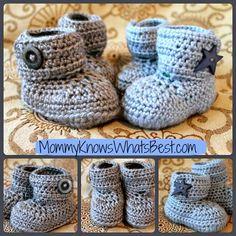 Crochet Baby Booties from Quartered Heart Crochet