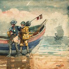 The Return, Tynemouth (1881) - Winslow Homer