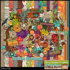 Fade to Fall by Clever Monkey Graphics - Digital scrapbooking kits available through Oscraps, GingerScraps, or MyMemories