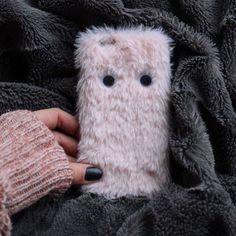 How cute is this pink furry thing case?!