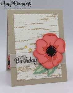 Here's A Card Birthday Card by - Cards and Paper Crafts at Splitcoaststampers Card Birthday, Happy Birthday, Birthday Highchair, Poppy Cards, Hand Stamped Cards, Some Cards, Flower Cards, Flower Images, Stampin Up Cards