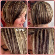 highlights #short hair cut