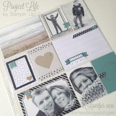 Memory Keeping with Project Life by Stampin' Up! Design Team blogshare Stampin' Up! - Memories in the making Sale A Bration 2016 Caro's Kaartjes