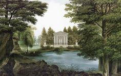 Ananbô Le Lac, papier peint panoramique