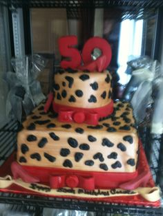 Leopard Spot 50th Birthday Cake - Trifles