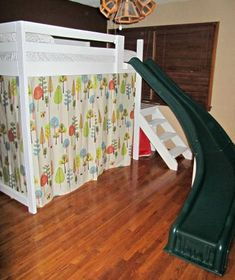 Camp Loft Bed with Stairs, Slide and Fort | Do It Yourself Home Projects from Ana White