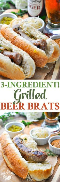 3-Ingredient Grilled 3-Ingredient Grilled Beer Brats are an easy dinner recipe for tailgate and cookout season! Grilling Recipes | 5 Ingredients or Less Recipes | Sausage Recipes | Low Carb Dinner #BeerBrats #ad @SmithfieldBrand @Yuengling_Beer Recipe : http://ift.tt/1hGiZgA And @ItsNutella  http://ift.tt/2v8iUYW