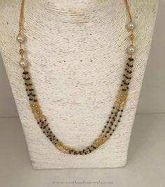 1 Gm Gold Chains, 1 Gm Gold Black Bead Chain Designs, 1 Gm Gold Chain Designs