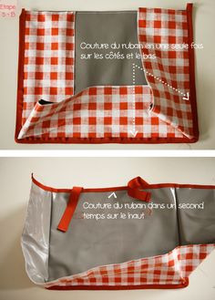 DIY Couture : sacoches de vélo | mobil' sweet home Diy Sac, Bicycle Seats, Techniques Couture, Diy Couture, Cargo Bike, Jaba, Quilts, Cover, Sweet Home
