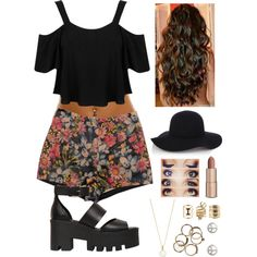 Untitled #279 by starmaterial54 on Polyvore featuring polyvore, fashion, style, Miss Selfridge, Windsor Smith, Accessorize, Alexia Crawford, Charlotte Russe, Warehouse, Charlotte Tilbury and coachella