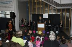 Press conference at the Pittsburgh Children's Museum.
