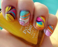 47 Marble Nail Designs