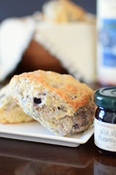 Vegan Wild Blueberry Scones Recipe (Panera Copycat!) - dairy-free, egg-free, several options