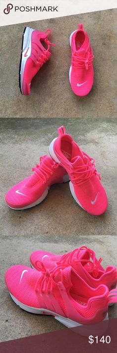 Women's Nike Air Presto Hyper pink. Very comfortable sneakers for either walking or running. Run true to size. Brand new, never been worn. $120 on Ⓜ️ercari. Nike Shoes Athletic Shoes