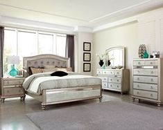 Shop a great selection of Wooden Bedroom Set (Eastern King). Find new offer and Similar products for Wooden Bedroom Set (Eastern King). Upholstered Bedroom Set, Mirrored Bedroom Furniture, Home Furniture, Bedroom Decor, Tufted Bed, Wooden Bedroom, Design Bedroom, Furniture Stores, Furniture Design