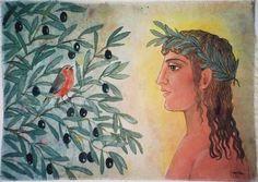 Olive%20Bird%20Kaisa Olives, Tree Illustration, Illustrations, Fall Is Here, Olive Tree, Art Forms, Olive Oil, Bird, Wallpaper
