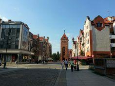 Elbląg - Old Town with old Market Gate
