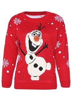 Häßlicher Weihnachtspullover für Damen & Herren mit Frozen Schneemann Olaf ab 9€