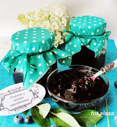 Ala piecze i gotuje: Frużelina z borówki amerykańskiej Preserves, Pantry, Decorative Boxes, Lunch Box, Food And Drink, Gift Wrapping, Homemade, Drinks, Gifts