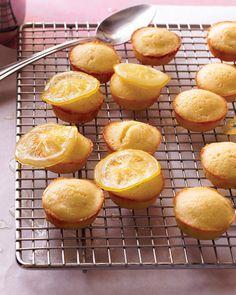 Lemon-Lime Tea Cakes  #marthastewart