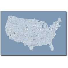 Trademark Art US City Map Xii Canvas Wall Art by Michael Tompsett, Size: 16 x 24, Multicolor