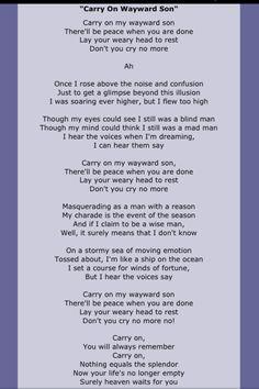 ... about Song Lyrics ...